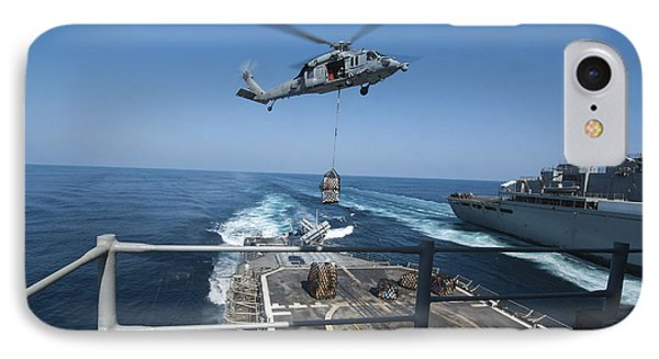 An Mh-60s Sea Hawk Brings Pallets Phone Case by Stocktrek Images