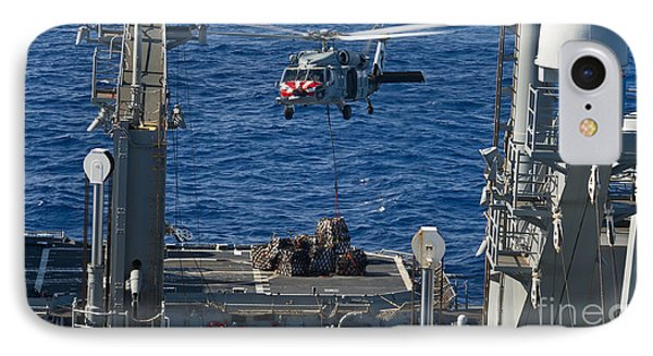 An Mh-60s Sea Hawk Delivers Supplies Phone Case by Stocktrek Images
