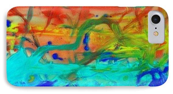 IPhone Case featuring the painting An Ocean Ride Horizon by Jonathon Hansen