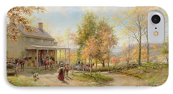 An October Day IPhone Case by Edward Lamson Henry