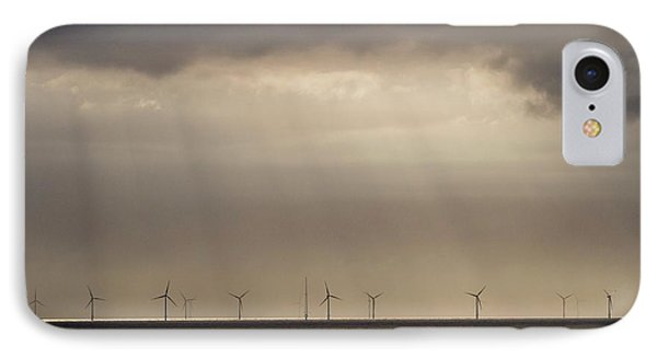 An Offshore Wind Farm In Dutch Waters IPhone Case by Ashley Cooper
