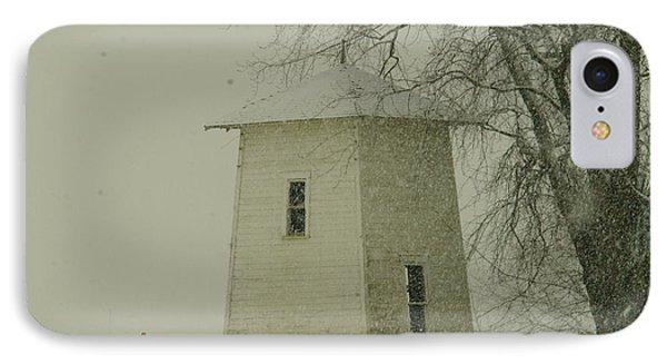 An Old Bin In The Snow Phone Case by Jeff Swan