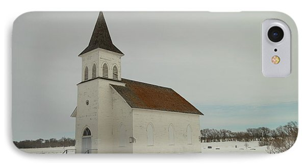 An Old Church In North Dakota Phone Case by Jeff Swan