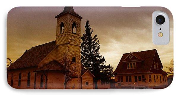 An Old Church In Williston North Dakota  Phone Case by Jeff Swan
