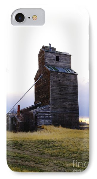 An Old Grain Elevator Off Highway Two In Montana Phone Case by Jeff Swan