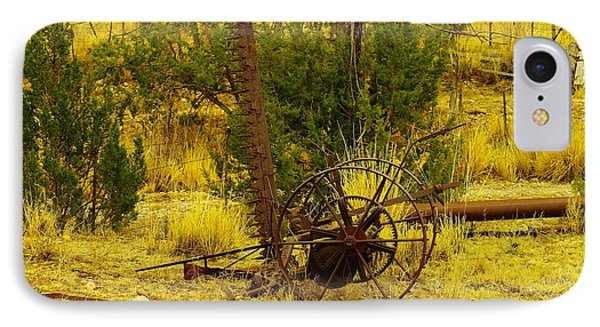 An Old Grass Cutter In Lincoln City New Mexico Phone Case by Jeff Swan