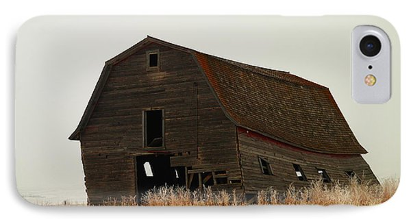 An Old Leaning Barn In North Dakota Phone Case by Jeff Swan