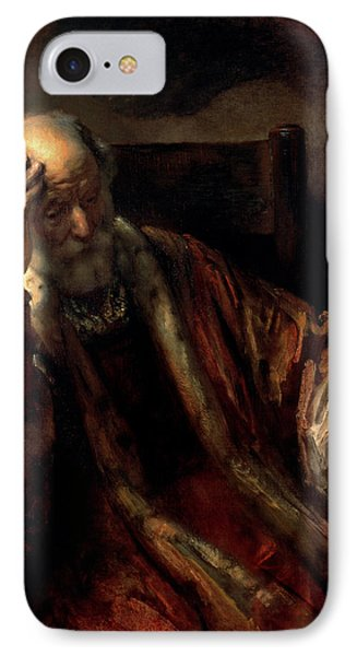 An Old Man In An Armchair IPhone Case