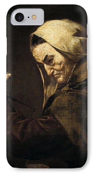 An Old Money-lender  IPhone Case by Jusepe de Ribera