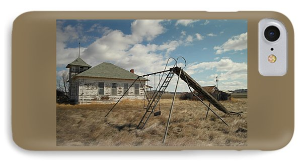An Old School Near Miles City Montana Phone Case by Jeff Swan