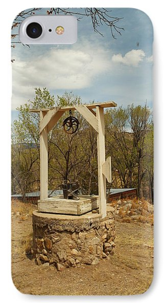 An Old Well In Lincoln City New Mexico Phone Case by Jeff Swan