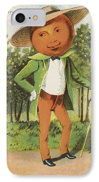 An Orange Man IPhone Case by Aged Pixel