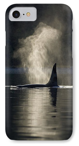 An Orca Whale Exhales Blows Phone Case by John Hyde