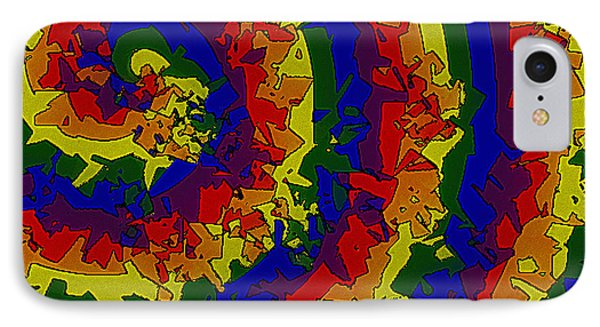 IPhone Case featuring the digital art An Un-smooth Roundabout by Bartz Johnson