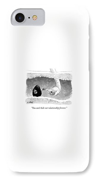 Ostrich iPhone 7 Case - An Underground Mole Says To A Ostrich Poking by Will McPhail