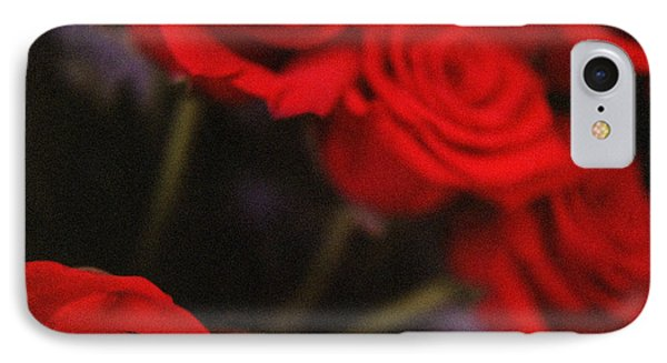 Analog Photo Of Bunch Bouquet Of Red Roses Phone Case by Edward Olive