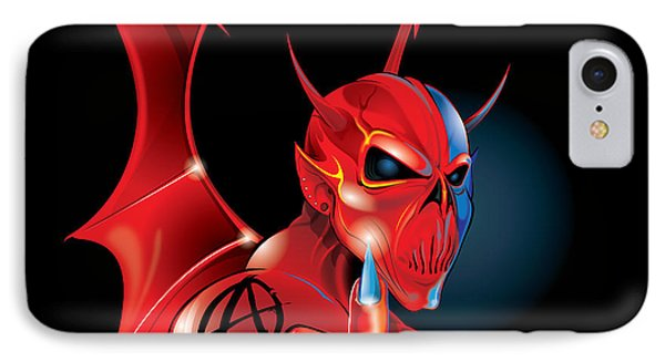 IPhone Case featuring the digital art Anarchy by Brian Gibbs