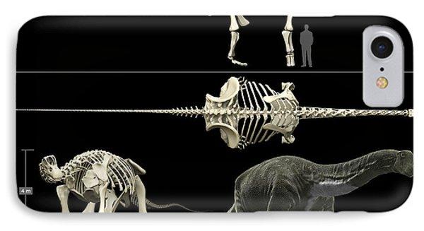 Anatomy Of A Titanosaur Phone Case by Rodolfo Nogueira