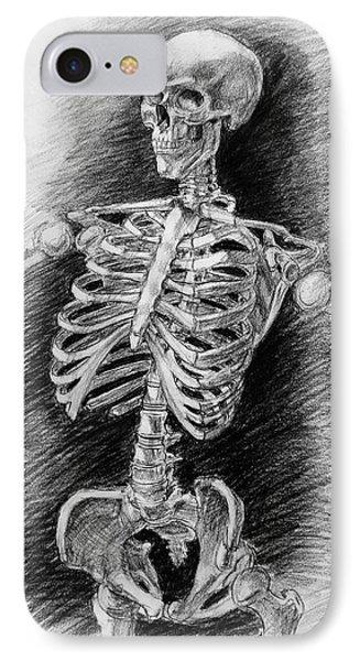 Anatomy Study Mister Skeleton IPhone Case by Irina Sztukowski