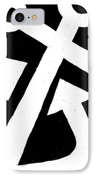 Anchor-black Phone Case by Catherine Peters