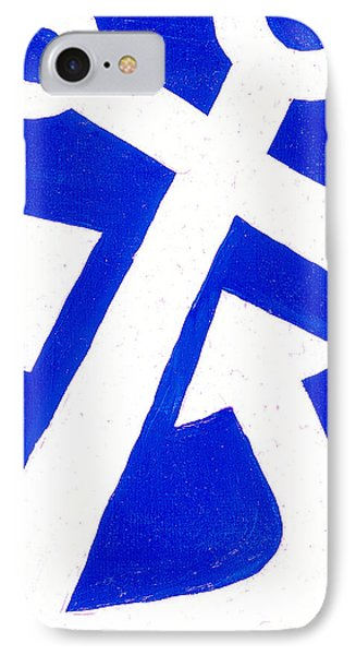 Anchor- Bright Blue Phone Case by Catherine Peters
