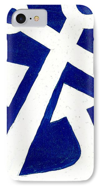 Anchor- Dark Blue Phone Case by Catherine Peters