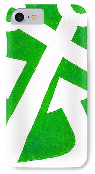 Anchor- Green Phone Case by Catherine Peters