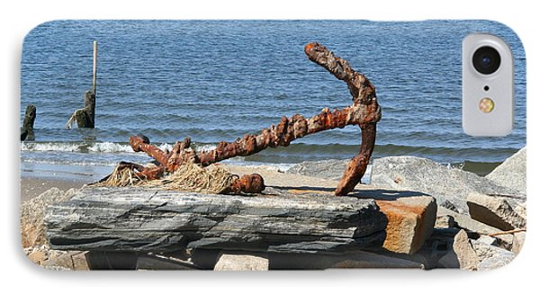 IPhone Case featuring the photograph Anchor by Karen Silvestri