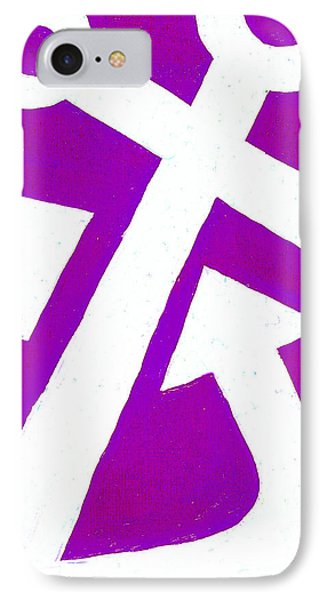 Anchor-magenta Phone Case by Catherine Peters