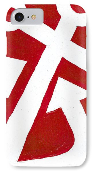 Anchor- Red Phone Case by Catherine Peters