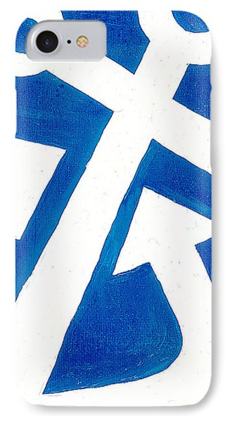 Anchor- Royal Blue Phone Case by Catherine Peters