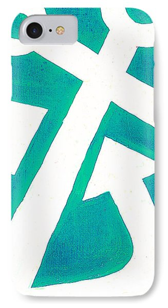 Anchor-turquiose Phone Case by Catherine Peters