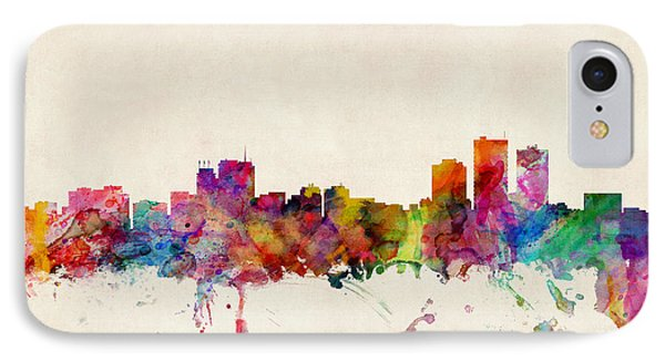 Anchorage Skyline Phone Case by Michael Tompsett