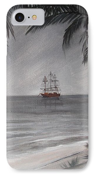 IPhone Case featuring the painting Anchored For The Night by Virginia Coyle
