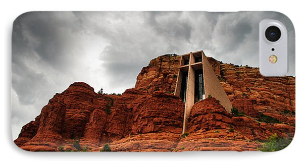 IPhone Case featuring the photograph Anchored On The Rock Sedona Az by Terry Garvin