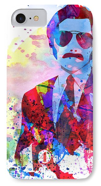 Anchorman Watercolor 2 IPhone Case by Naxart Studio
