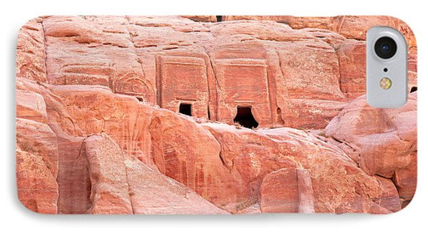 Ancient Buildings In Petra IPhone Case by Jane Rix