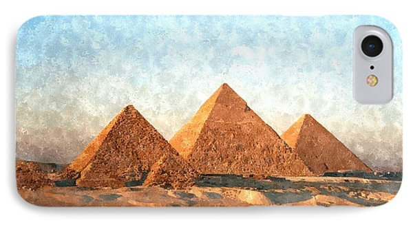Ancient Egypt The Pyramids At Giza IPhone Case by Gianfranco Weiss