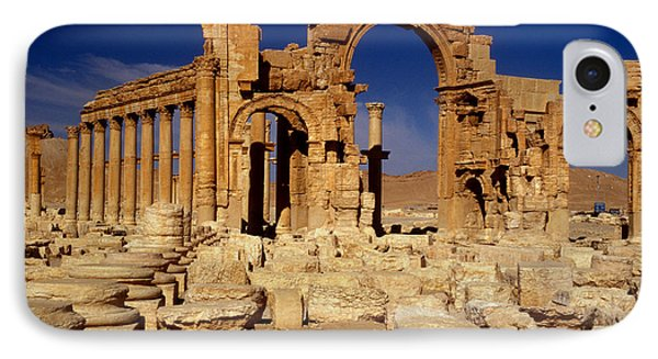 Ancient Roman City Of Palmyra, Syria Photo IPhone Case by .