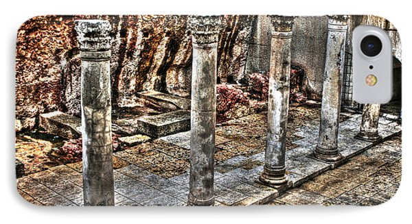 IPhone Case featuring the photograph Ancient Roman Columns In Israel by Doc Braham
