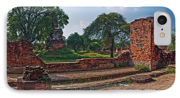Ancient Ruins Of Ayutthaya Historical IPhone Case by Panoramic Images