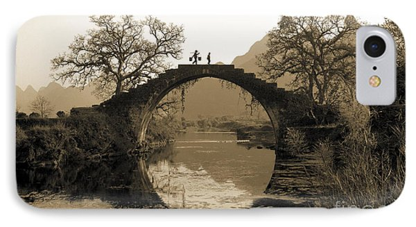 Ancient Stone Bridge IPhone Case by King Wu