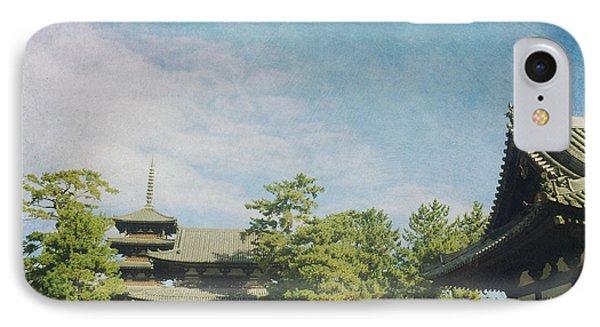 Ancient Temple And Pagoda Of Horyu-ji In Nara Japan IPhone Case