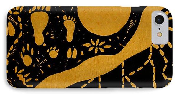 Ancient Worship Tribal Art Phone Case by Georgeta  Blanaru