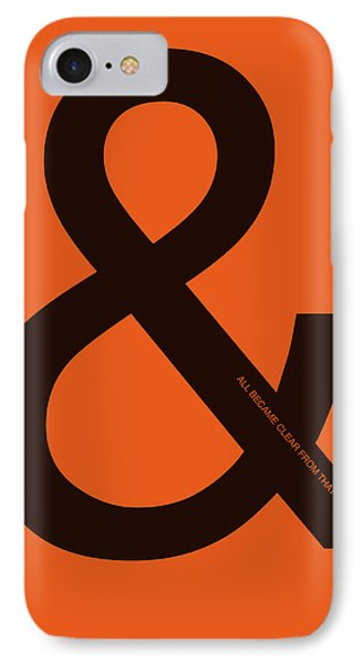 And All Became Clear Poster IPhone Case