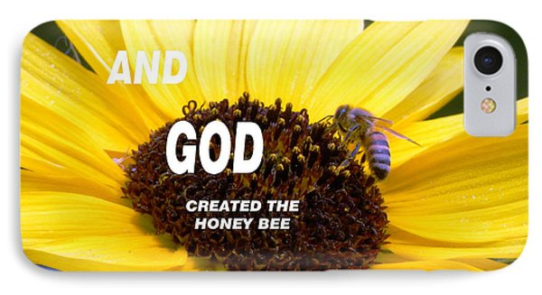 And God Created The Honey Bee IPhone Case by Belinda Lee