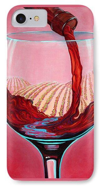 IPhone Case featuring the painting ...and Let There Be Wine by Sandi Whetzel