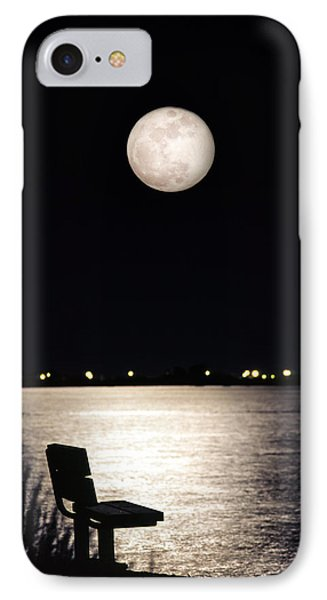 And No One Was There - To See The Full Moon Over The Bay IPhone Case