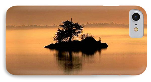 And The Fog Rolls In IPhone Case by Larry Trupp