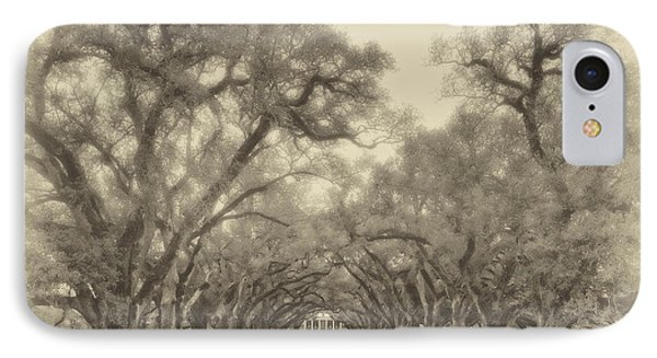 And Time Stood Still Sepia IPhone Case